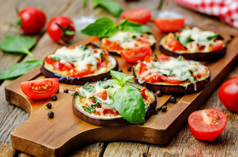 Eggplant Margherita Pizza