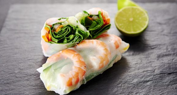 Quick Appetizers for Parties People Rave About Shrimp Spring Roll with Chili Soy Sauce