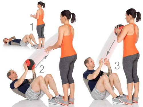 Medicine Ball Sit-Up Pass