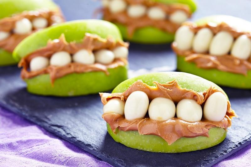 Apple Peanut Monster Mouths