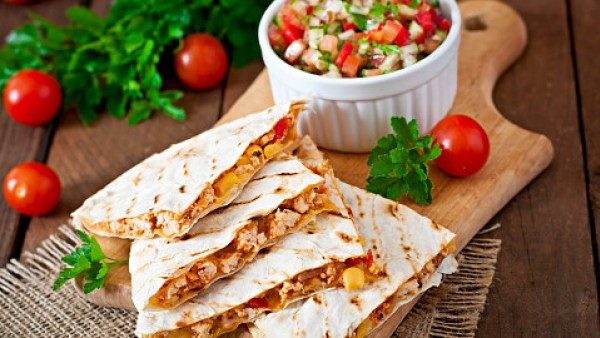 Date Night Dinner Ideas Cheesy Chicken Quesadillas
