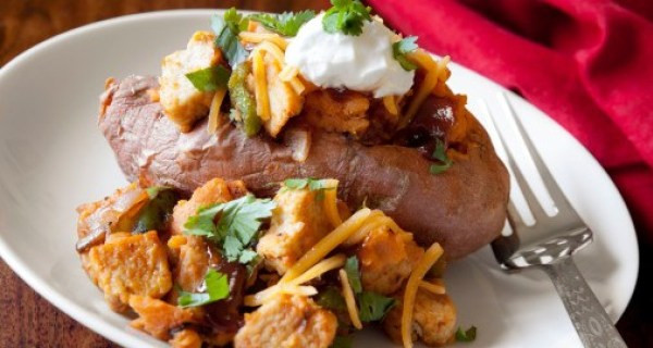 Date Night Dinner Ideas Loaded Mexican Baked Sweet Potato