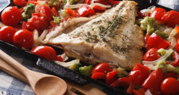 One Pot Meals One Pan Meal Greek Fish and Vegetables One Dish Meals