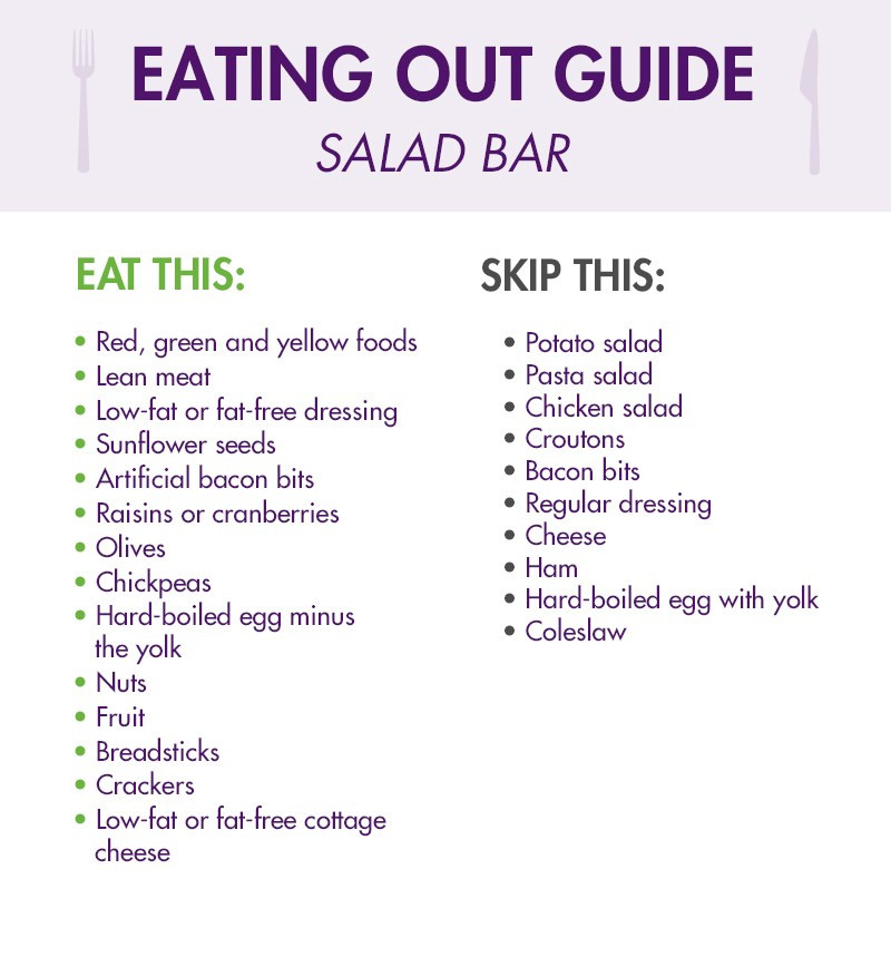 Salad bar eating out guide