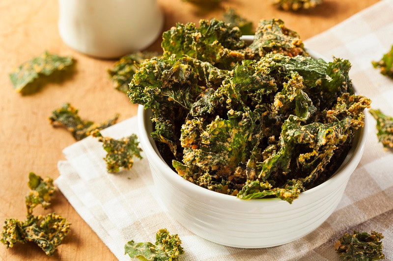 kale healthy chip