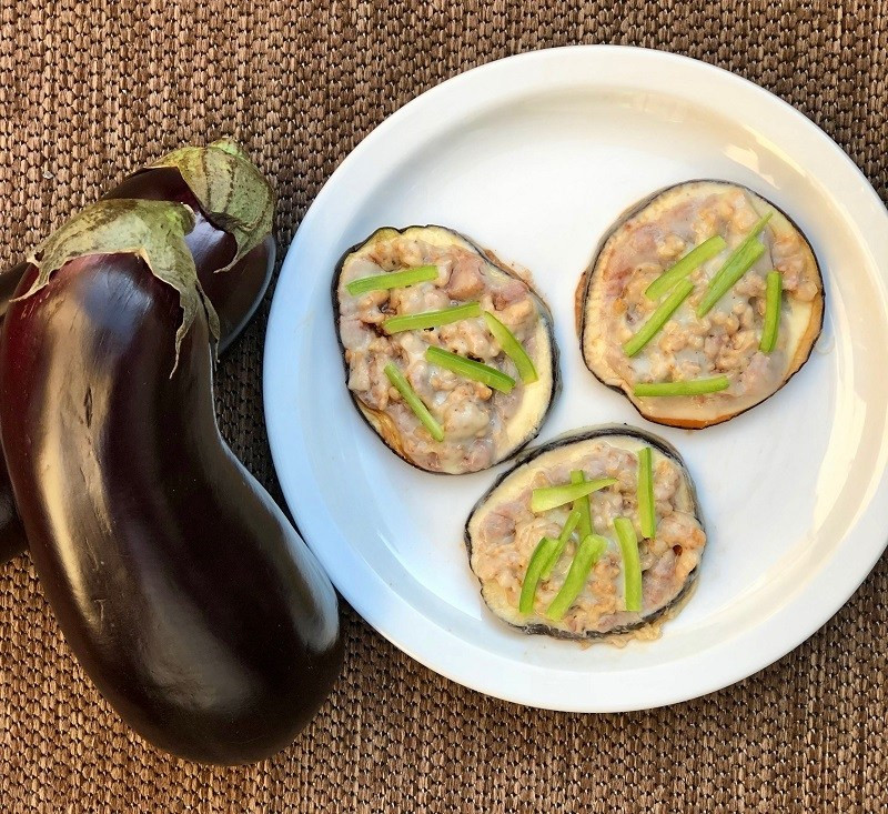 healthy pizza recipes Eggplant-Sausage-and-Pepper-Pizza