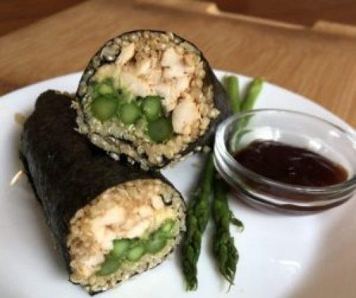Chicken Teriyaki Sushi Burrito