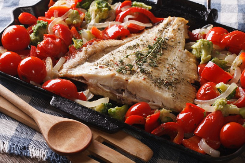 Tomato Recipes: One-Pan Meal Greek Fish