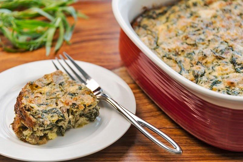 spinach mushroom egg recipe