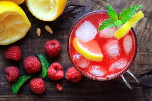 raspberry lemonade slushie