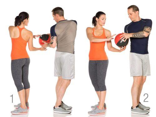 Medicine Ball Standing Torso Twist