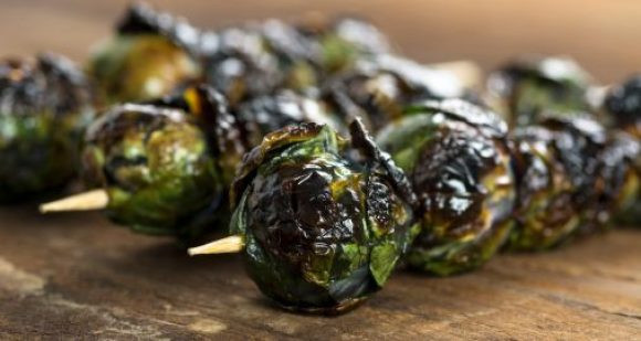 Quick Appetizers for Parties People Rave About Brussels Sprouts Skewers with Mustard Marinade