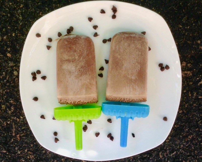 Chocolate Peanut Butter Popsicles