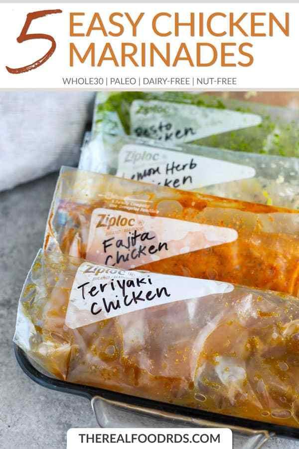 Short Pin Image for 5 Easy Chicken Marinades