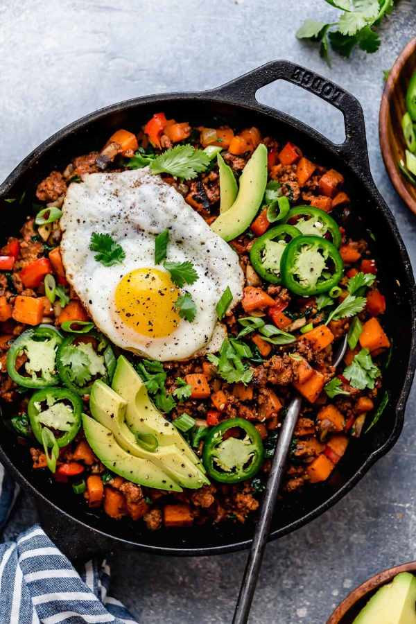 Tex-Mex Sweet Potato Hash