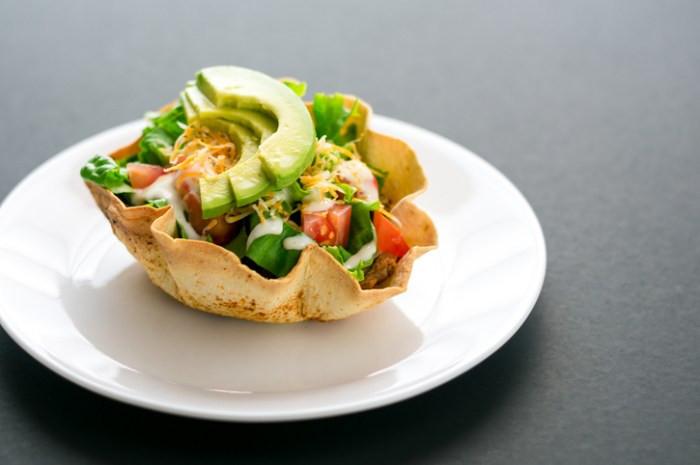 chicken Taco salad bowls healthy meals