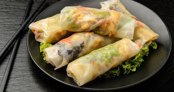 Quick Appetizers for Parties People Rave About Chicken Spring Rolls with Peanut Sauce