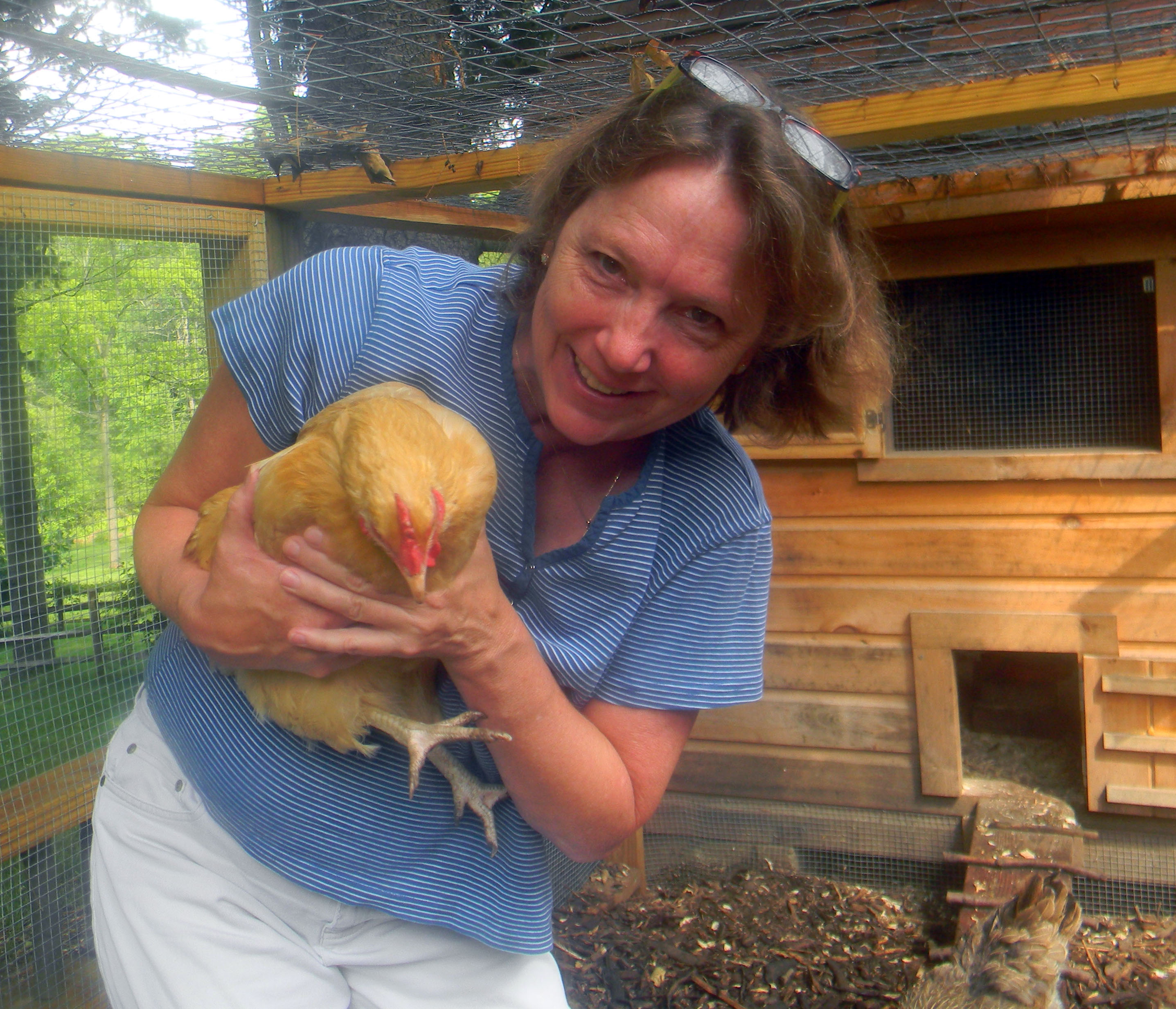 Susan and her Chicken-dog