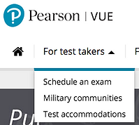 PearsonVue Heading