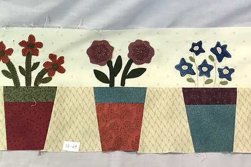 Completed Wool Applique Panel