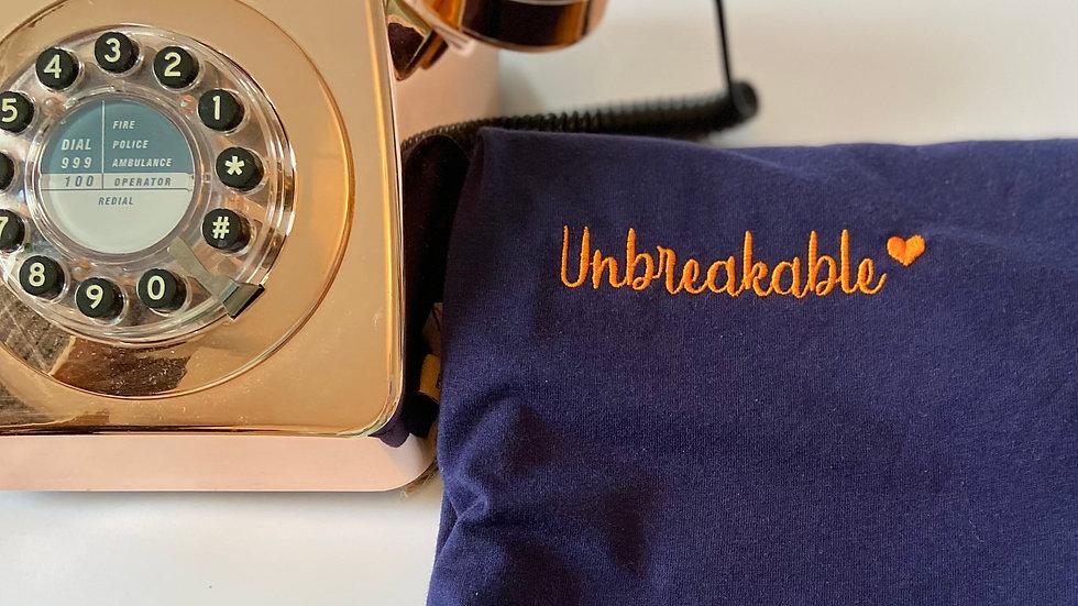 Unbreakable Navy Unisex tee