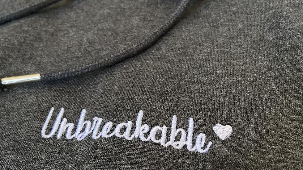 Unbreakable Centred Hoodie - Dark Grey Marl