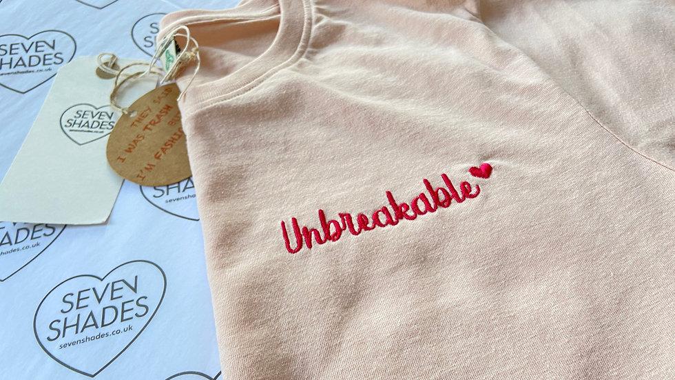 Unbreakable Pink Unisex tee