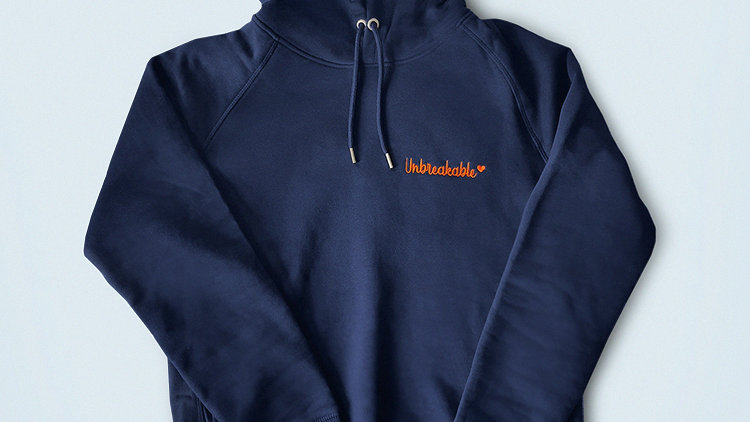 Unbreakable Navy hoodie