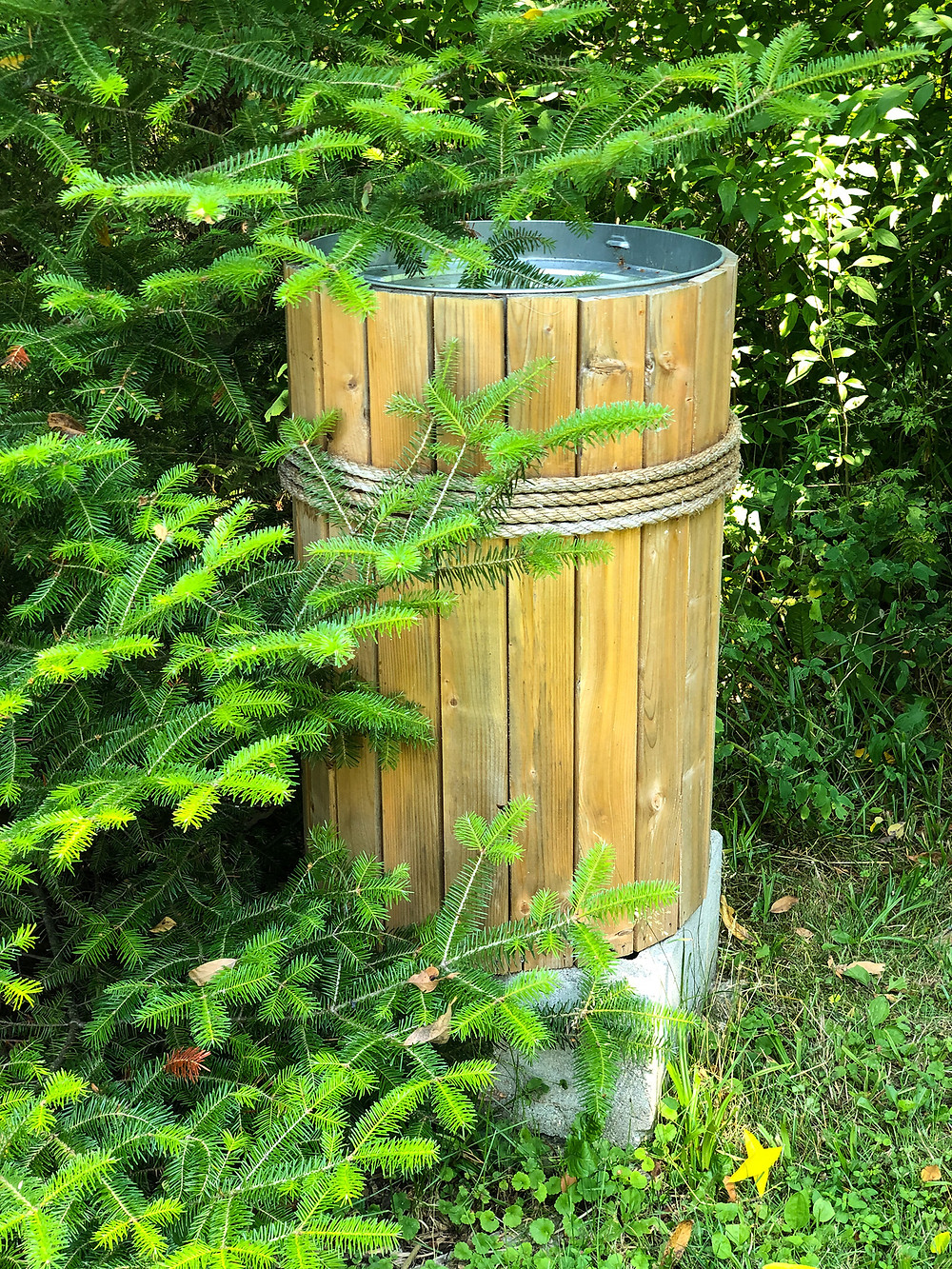 rain barrel, diy, soaker hose