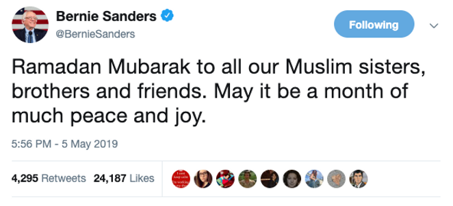 Ramadan Iftars For Bernie Tweet.png