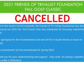 Golf Tournament Cancelled