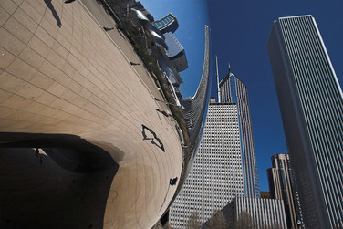 Playing with reflections - Chicago