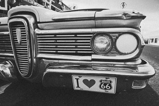 Route 66 is full of vintage cars along the road, Seligman - Arizona