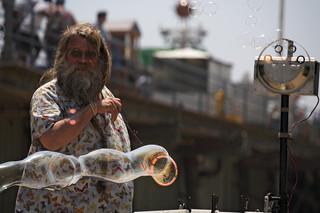 Bubble-man - Santa Monica, California