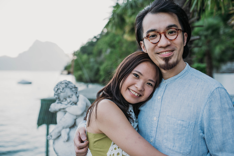 Sharon and Charles' engagement in Lugano
