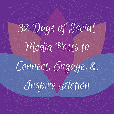 32 Days of Social Media Posts to Connect