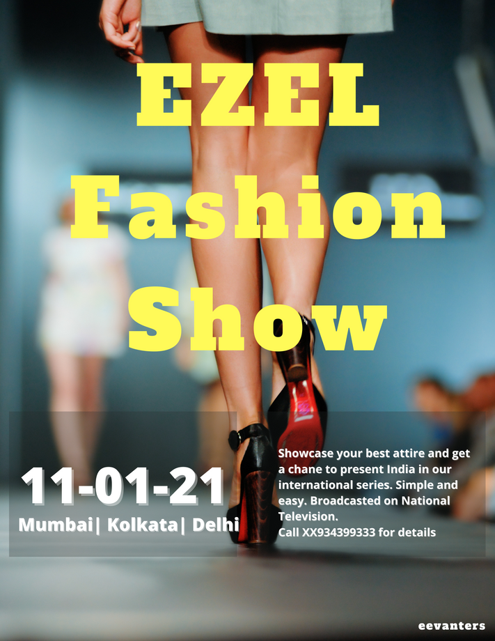 EZEL Fashion Show Poster & Ad