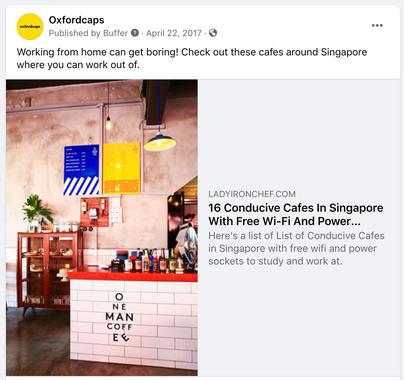 Oxfordcaps Singapore Social Media Posting