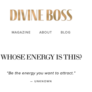 Divine Boss Whose Energy Is this Blog article