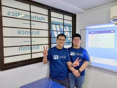 Mr Huang and James Huang
