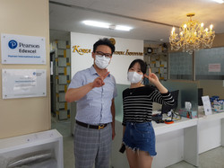 Principal with top student Jeong yeongmin; 5 A stars