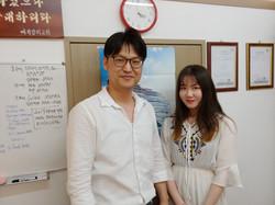 Principal with top student Kim Sua