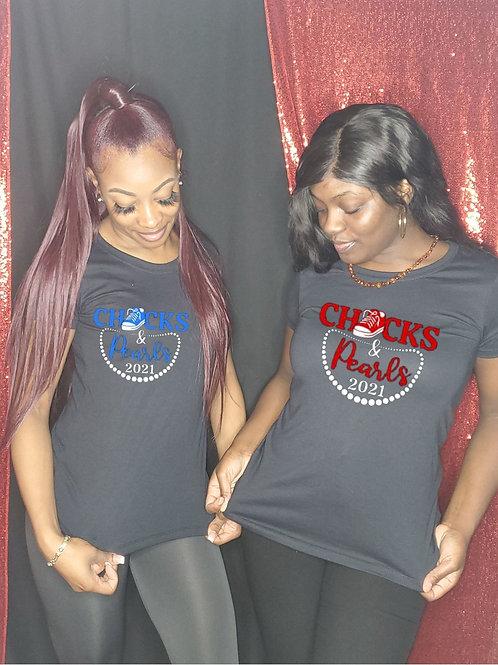 Chucks and Pearls Tee