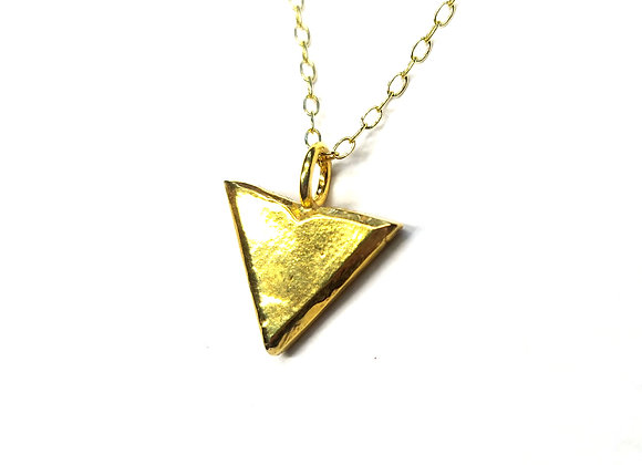 Yellow Gold Plated Silver Arrowhead Pendant