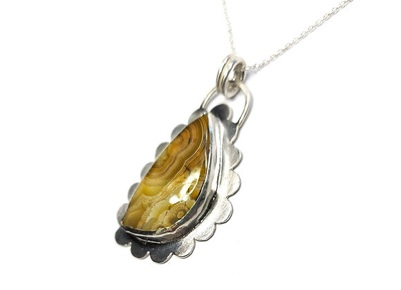 Silver Linings Necklace with Jasper