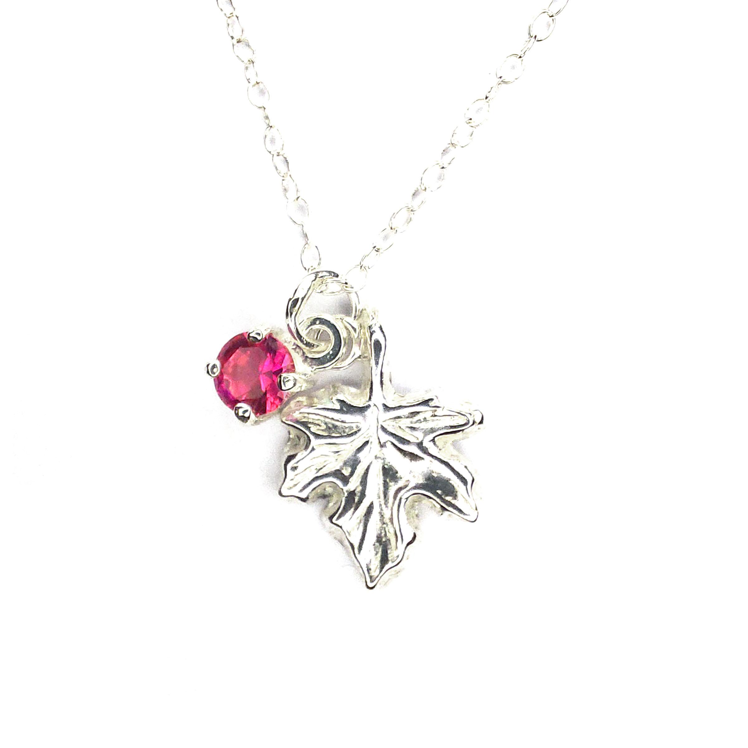 Silver-maple-leaf-ruby-pendant-300dpi