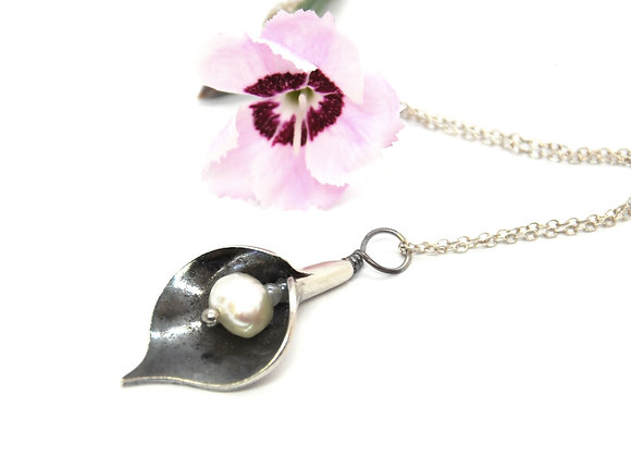 Silver Arum Lily Pendant