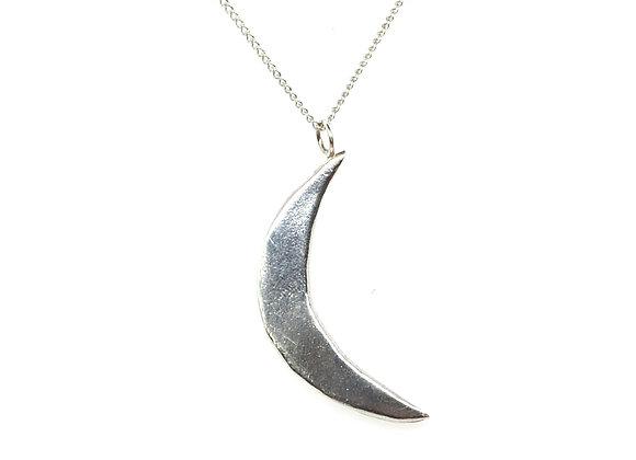 Silver Crescent Moon Pendant
