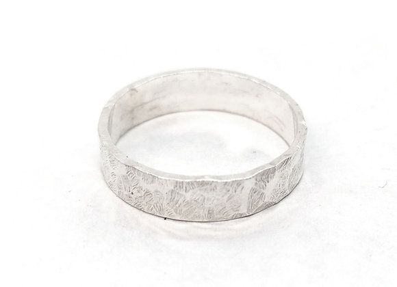 Silver Hammered Band Ring