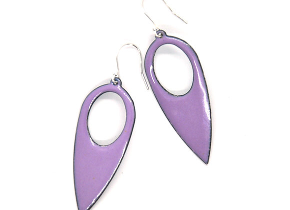 Purple Enamel Drop Earrings